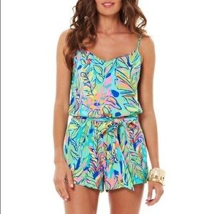 NWT Lilly Pulitzer Deanna Romper Fluorescent XXS